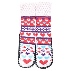 """Bearfoot"" Little Girls Knitted Home Slipper Socks With NON Slip Bottom (Size:Small)"
