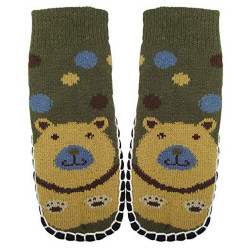"""Bearfoot"" Toddlers/Little Boy's Jacquard Knitted Home Slipper Socks,NON Slip."