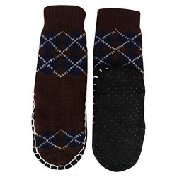 """Bearfoot"" Toddlers/Little Boy's Jacquard Knitted Home Slipper Socks,NON Slip. (size:m)"