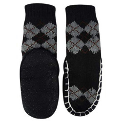 """Bearfoot"" Toddlers/Little Boy's Jacquard Knitted Home Slipper Socks,NON Slip. (size:s)"