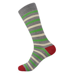 Brave Mens Colorful Designer Fun Striped Dress Socks (One Size)