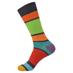 Brave Mens Colorful Designer Crazy Funky Striped Dress Socks (One Size)