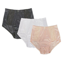 J Ann Women's High Waist Support Girdles (Panty Brief), 3-Colored Combo