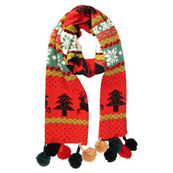 J.ANN Womens/Mens Winter Knitted Warm Long Basic Outdoor Scarf Shawl