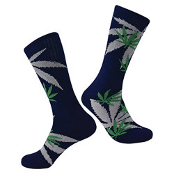 Brave Marijuana Weed Leaf Men/Women sport socks colourful Cotton High Socks (One Size )