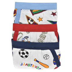 Star Boy's 100% Cotton Sports Design Briefs 6-Pack