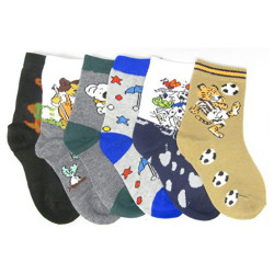 Children Wholesale 12- Pair/Pack Crew Socks (Many Sizes/Designs)