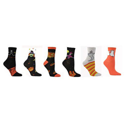 Women's Halloween Crew Socks, Sock Size 9-11 (Many Combos)