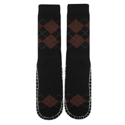 Adults 1 or 2-PK Knitted Slipper Socks with NON-Slip Skids (X-Large (28cm))
