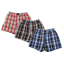 Brave 3 Pack Teen/Juniors Size Sized 100% Cotton Woven Boxer Shorts