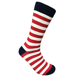 Men's Patriotic American (4th of July) Crew Dress Socks (Sock Size 10-13)