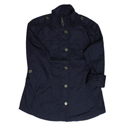Bitton Lightweight Military Jacket for Women (Navy/Small)