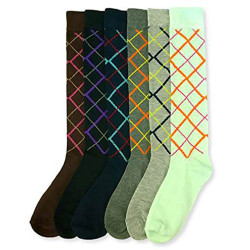 Women's Fancy Design Multi Color Knee High Socks (6 pairs/9-11)