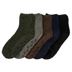 Women's Cozy Slipper Socks Fuzzy Sock Multi Color  6 Pairs