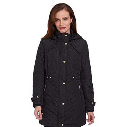 Weatherproof Garment Co. Womens Hooded Midweight Quilted Walker Jacket