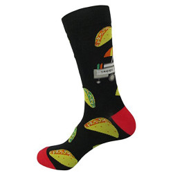 Men's 1 OR 3 PACK Novelty Crew Socks w. Funny Design Dress Socks(10-13)